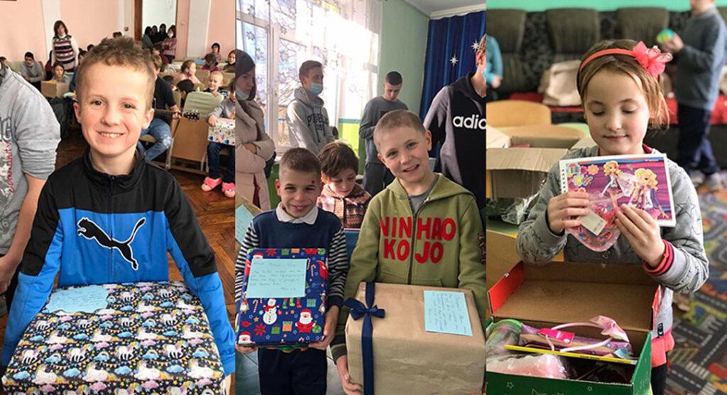 Geschenke für Kinder des Kinderheims